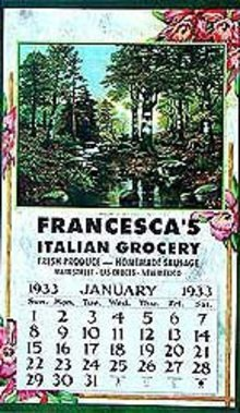 VINTAGE 1933 CALENDAR ~ GROCERY STORE ~ NEW MEXICO