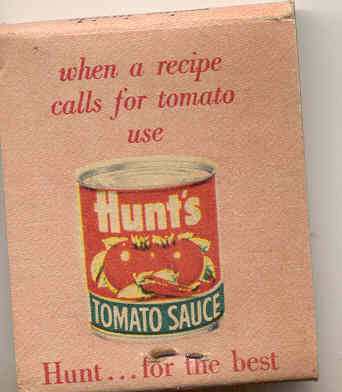 Hunts BBQ Matchbook