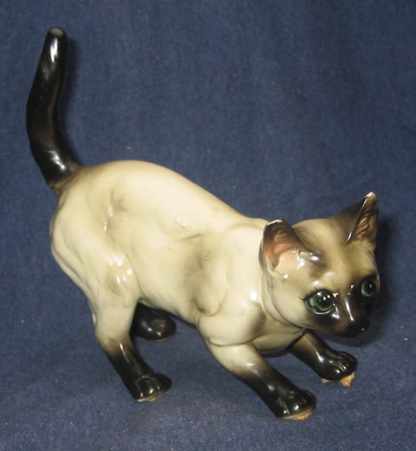 VINTAGE CAT STATUE ~ ESTATE FIND