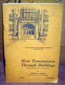 VINTAGE 1940S BOOK ~ HEAT TRANSMISSION THROUGH BUILDINGS BOOKLET 1940s