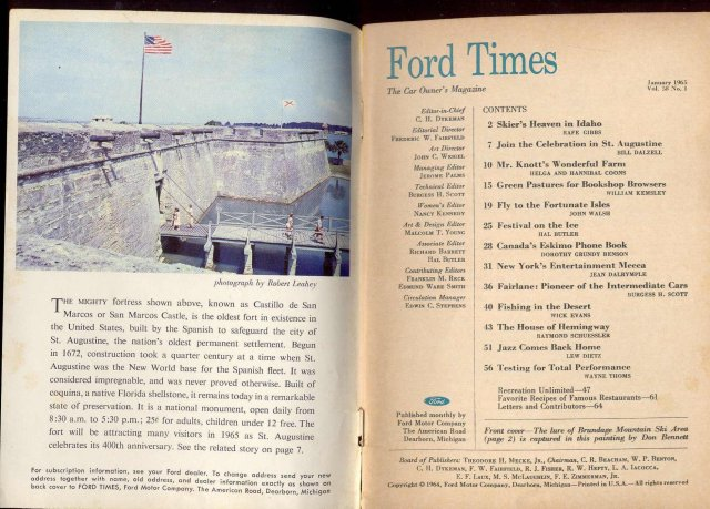 FORD CAR MAGAZINE ~ VINTAGE 1965