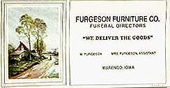 VINTAGE BLOTTERs ~  FURGUSON FURNITURE FUNERAL SIGN