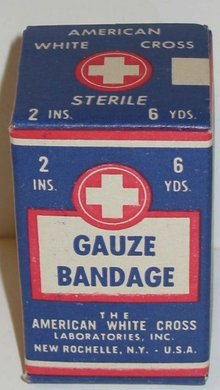 American White Cross Gauze Bandages Full Box
