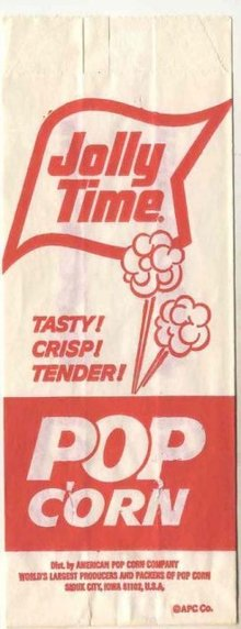 Jolly Time Movie Popcorn Bag