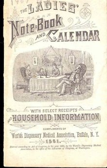 VINTAGE 1881 LADIES CALENDAR NOTEBOOK ~ MEDICAL ASSOC BUFFALO NEW YORK