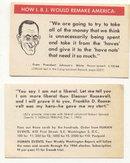 LBJ JOHNSON PROMOTIONAL POLITICAL CARD 1960S
