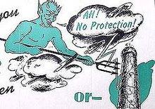 Aqua-Tite Blue Devil Booklet 1940s