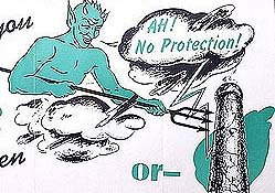 Aqua-Tite Blue Devil Booklet 1940s