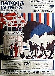Batavia Downs Horse Racing Program 1976