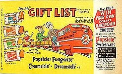 Popsicle Ice Cream Catalog Premium Giveway