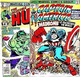 CAPTAIN AMERICA COMIC BOOK ~ 1970S MARVEL COMICS SUPER HERO COMIC BOOKS