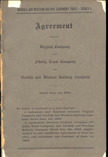 NORFOLK WESTERN RAILWAY Trust Agreement 1903