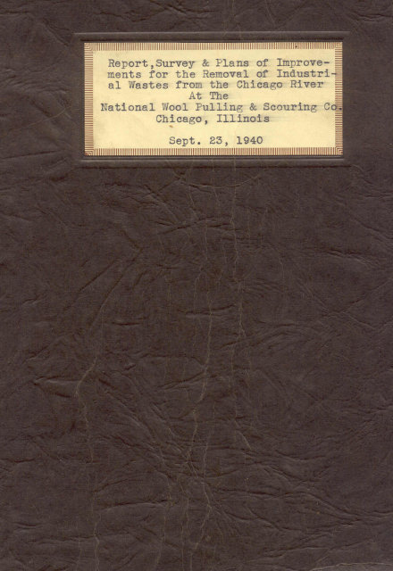 1940 REPORT SURVEY PLANS BOOKLET * NATIONAL WOOL CO CHICAGO