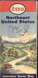 ESSO TRAVEL MAP ~ NORTHEAST UNITED STATES
