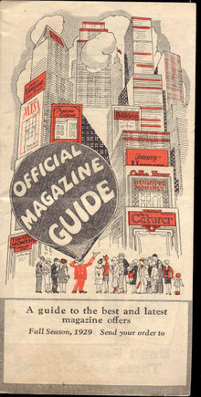OFFICIAL MAGAZINE GUIDE 1929 ~ FALL SEASON