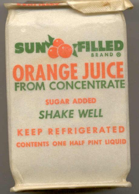 Minute Maid Orange Juice Container