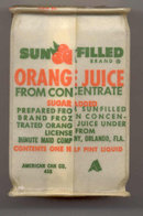 Minute Maid Orange Juice Container