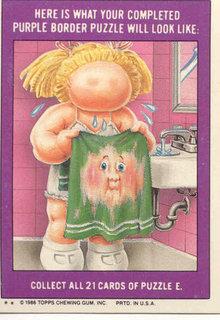 1986 GARBAGE PAIL KIDS Trade Card 193b