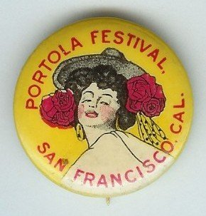 Spanish Dancer Pin Portola Festival
