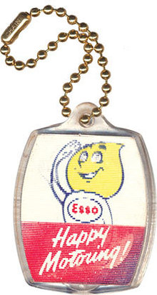 ESSO OIL DROP MAN Keychain 1950s