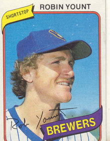 ROBIN YOUNT MILAWAUKEE BREWERS BASEBALL CARD