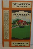 STA GREEN GRASS SEED BOX 1930s