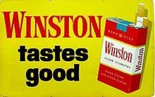 Winston Cigarette Sign 1950s