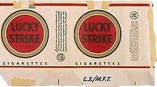 Lucky Strike LS/MFT Cigarette Wrapper