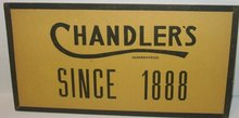 CHANDLERS HOTEL ADVERTISING SIGN 1920S