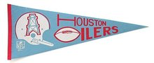 Houston Oilers Pennant and Pin