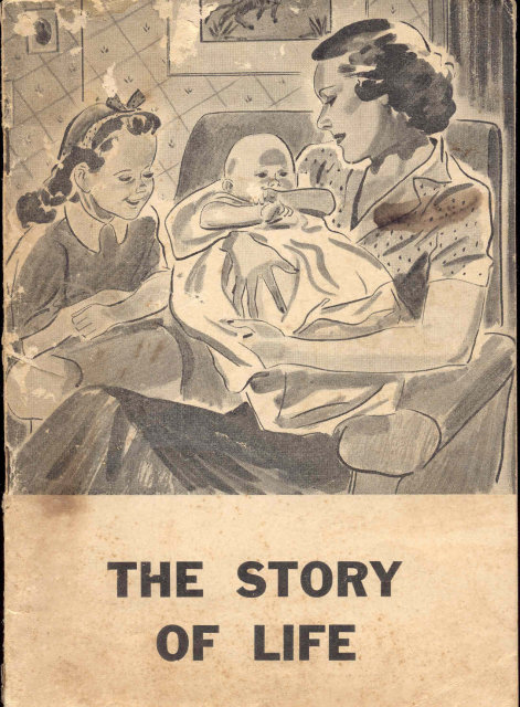 old vintage 1940 THE STORY OF LIFE BABY BOOKLET