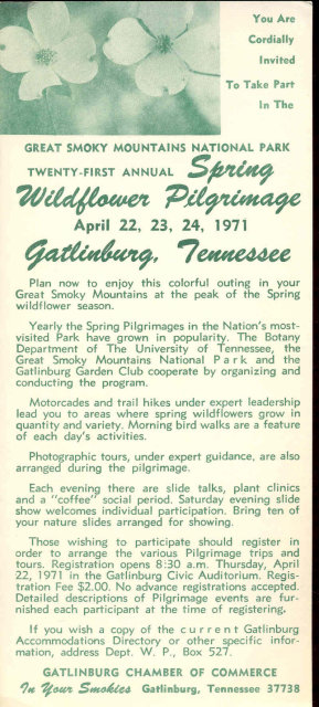 1971 SPRING WILDFLOWER Fair Promotion Ad