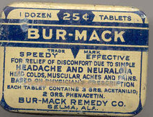 Bur-Mack Headache Tin