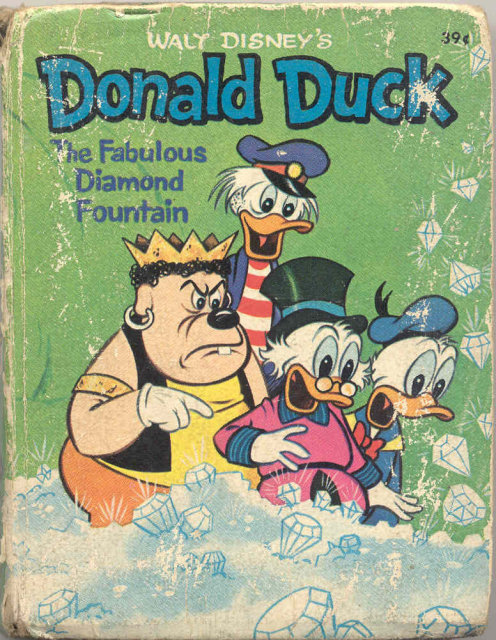 Donald Duck Fabulous Diamond Mine Book 1967