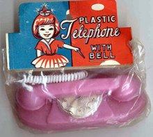 PRINCESS TOY PHONE ~ ORIGINAL VINTAGE PACK 1950S