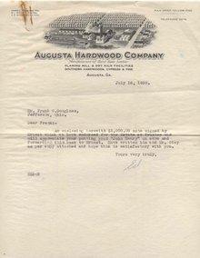 Augusta Hardwood Mill Letter