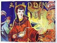 Alladin Vaudeville Stone Litho poster