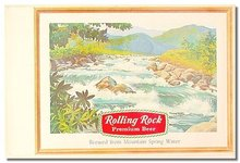 Rolling Rock Beer Sign Poster