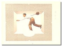 MALE BOWLING POSTER SIGN  ~ vintage ice cream