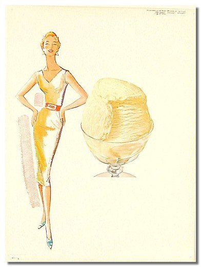 Model Lady Ice Cream Poster