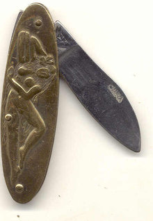 Sexy Pinup Pocket Knife