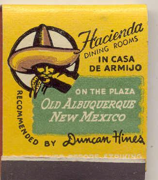 VINTAGE HACIENDA MATCHBOOK ~ 1960S OLD MEXICAN