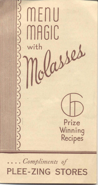 VINTAGE MOLASSES PAMPHLET ~ plee-zing stores