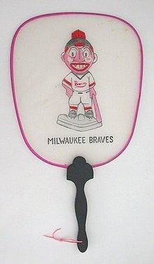 Milwaukee Braves Baseball Silk Fan Toy