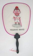 Milwaukee Braves Baseball Silk Fan Toy
