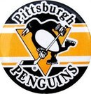 PITTSBURGH PENGUINS HOCKEY PINBACK pin ~ vintage