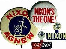 9 old vintage POLITICAL President Pinback pins
