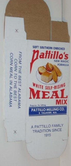 Patillos Corn Meal Breakfast Box 1940s