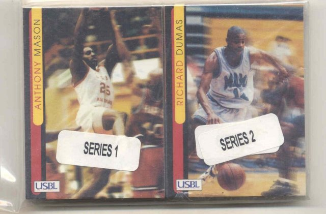 VINTAGE BASKETBALL CARDS ~ 1997 USBL TRADING CARD PACKS