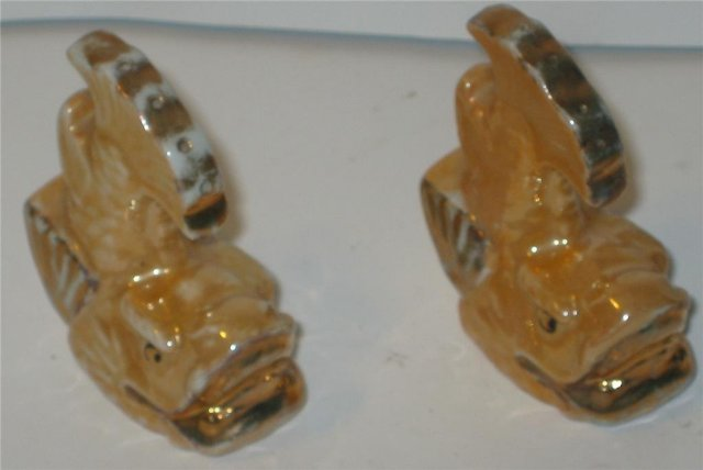 Japan Salt Pepper Shakers - Fish 1940s